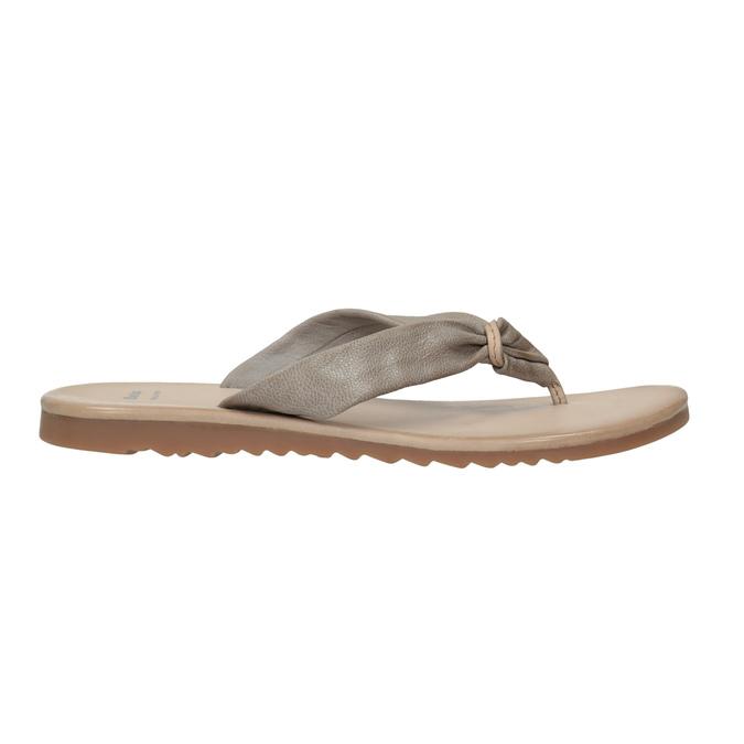 Dámské kožené žabky bata, šedá, 566-2607 - 15