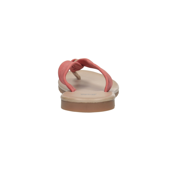 Kožené dámské žabky bata, červená, 566-5607 - 17