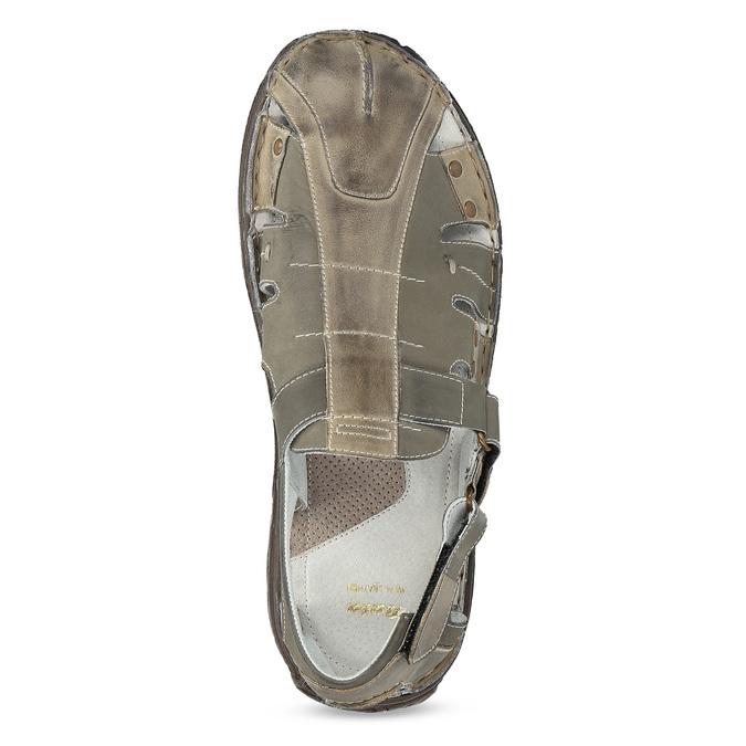 Pánské kožené sandály hnědé bata, hnědá, 866-2622 - 17