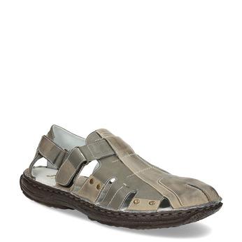 Pánské kožené sandály hnědé bata, hnědá, 866-2622 - 13