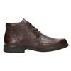 Kožená kotníčková obuv fluchos, hnědá, 824-4450 - 15