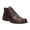 Kožená kotníčková obuv fluchos, hnědá, 824-4450 - 13