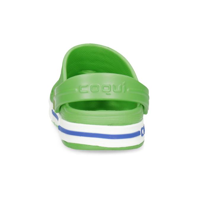 Dětské zelené sandály s žabkou coqui, zelená, 272-7603 - 15