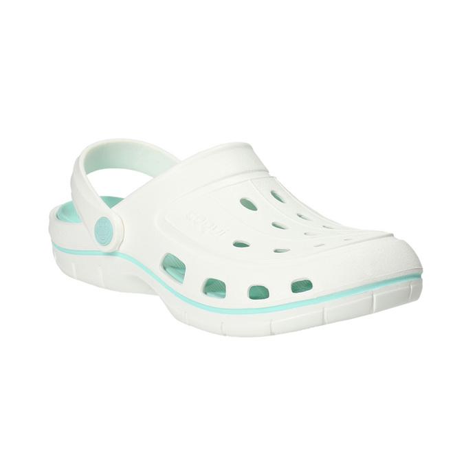 Bílé dámské sandály coqui, bílá, 572-1606 - 13