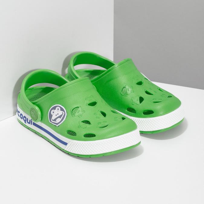 Dětské zelené sandály s žabkou coqui, zelená, 272-7603 - 26