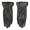 Kožené dámské rukavice s kožešinkou bata, černá, 904-6112 - 16