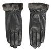 Kožené dámské rukavice s kožešinkou bata, černá, 904-6112 - 26