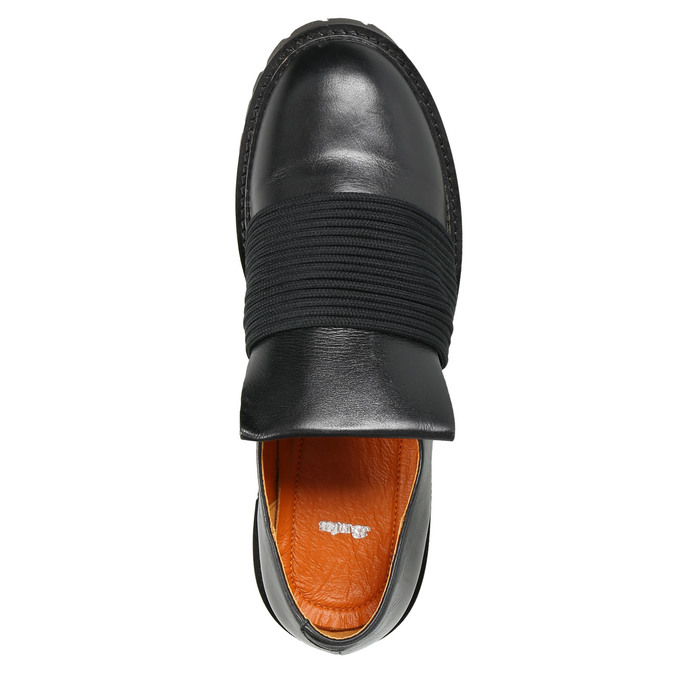 Pánská kožená obuv Loafers bata, černá, 836-6600 - 26