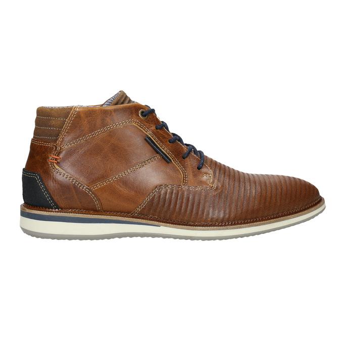 Ležérní kotníková obuv kožená bata, hnědá, 826-3912 - 15