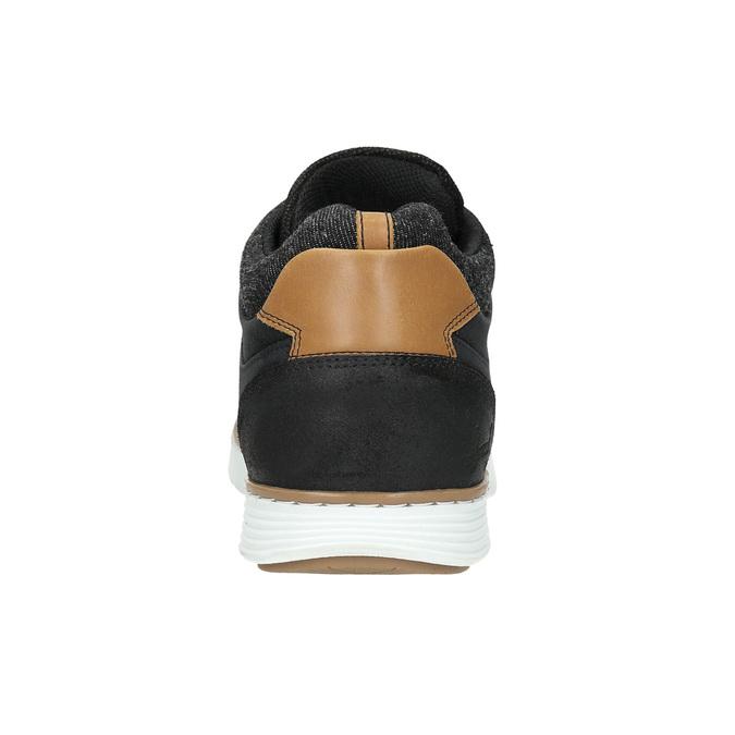 Kotničkové pánské tenisky z kůže bata, černá, 846-6641 - 17