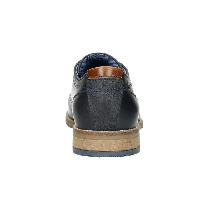 Neformální kožené polobotky bata, modrá, 826-9910 - 17