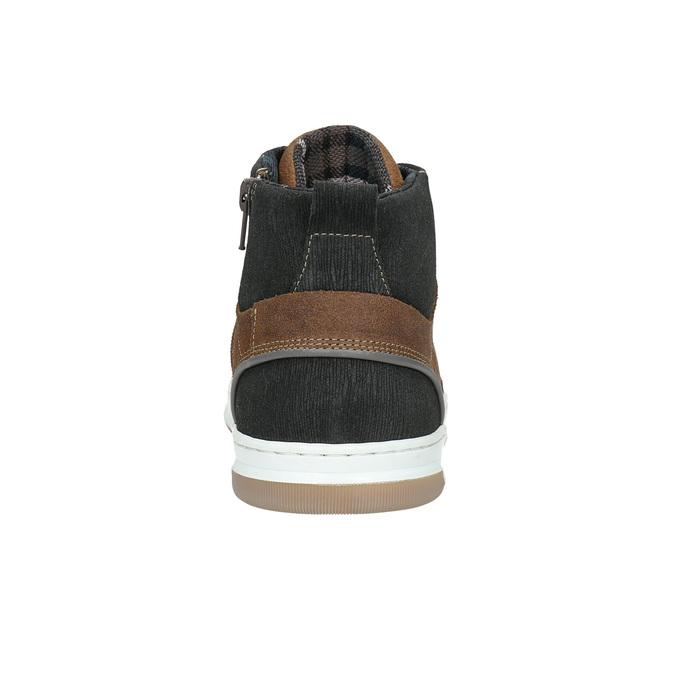 Kožené kotníčkové tenisky bata, hnědá, 846-3640 - 17