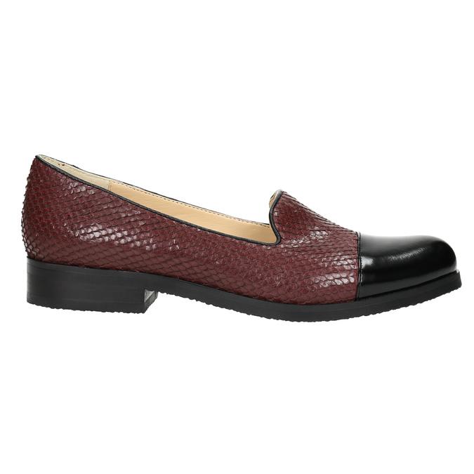 Kožené dámské Loafers bata, červená, 516-5610 - 15