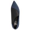 Dámské lodičky na jehlovém podpatku insolia, modrá, 729-9608 - 19