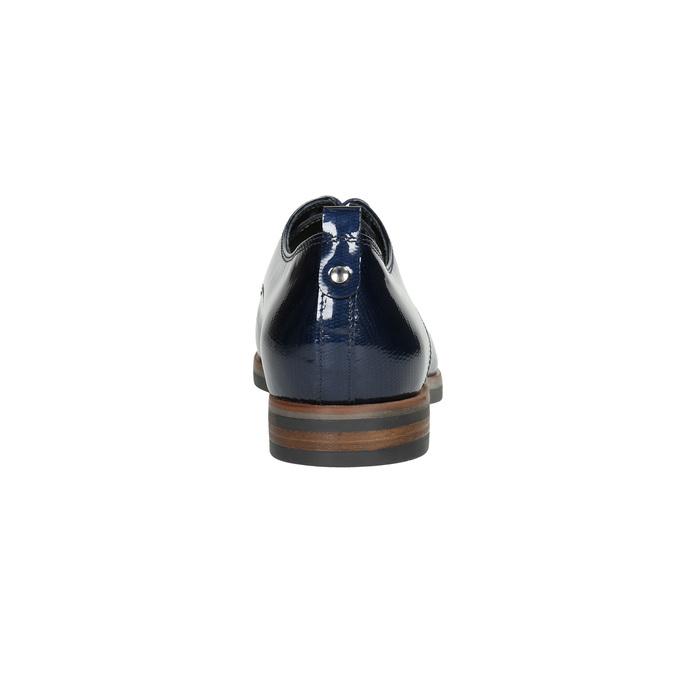 Kožené dámské polobotky bata, modrá, 528-9600 - 17