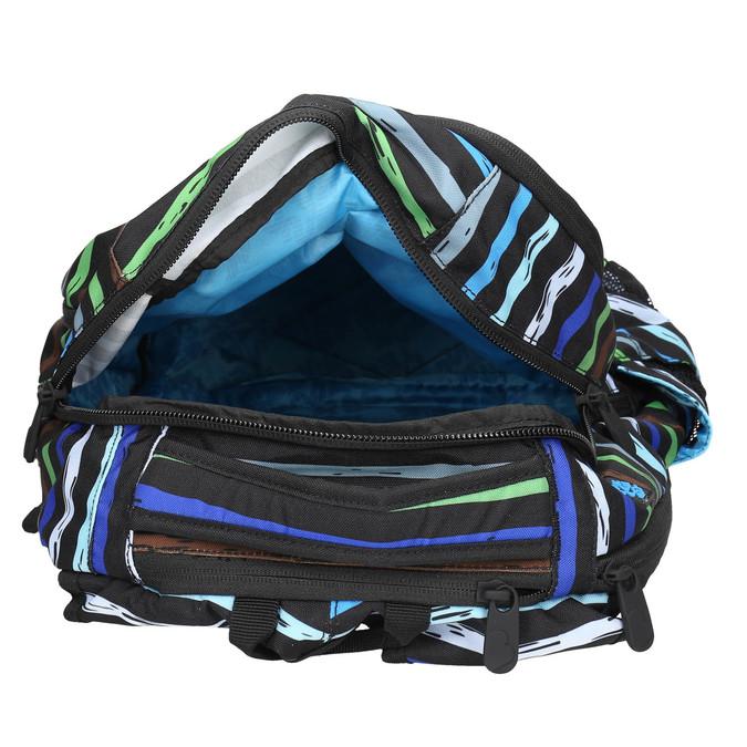 Školní batoh s pruhy bagmaster, modrá, 969-9651 - 15