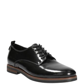 Dámské lakované polobotky bata, černá, 528-4600 - 13
