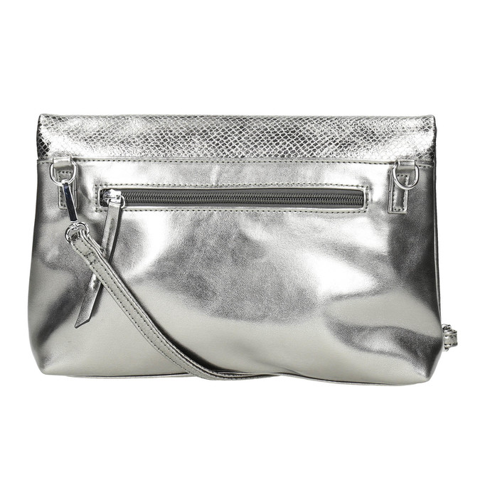 Stříbrná Crossbody kabelka bata, stříbrná, 961-1501 - 26