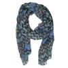 Dámský modrý šátek se vzorem bata, modrá, 909-9627 - 13