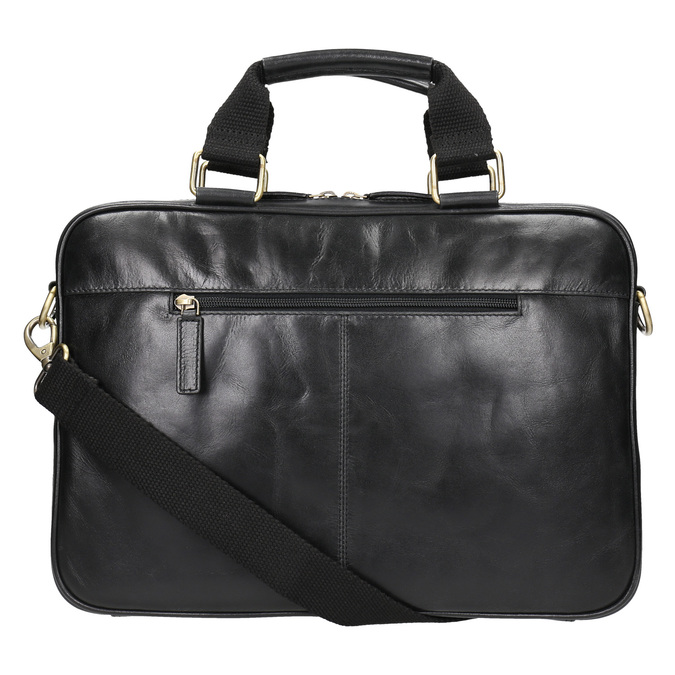 Kožená unisex taška bata, černá, 964-6204 - 26