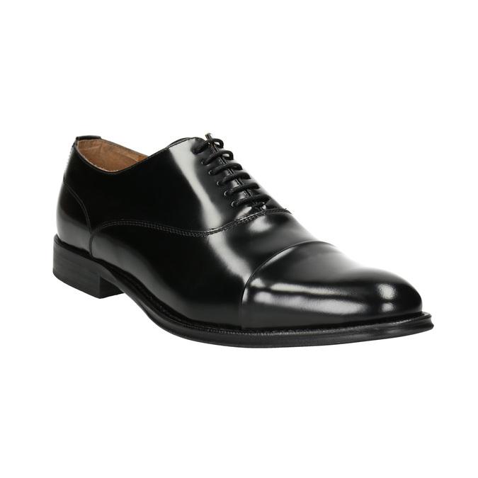 Černé kožené Oxford polobotky bata, černá, 826-6671 - 13