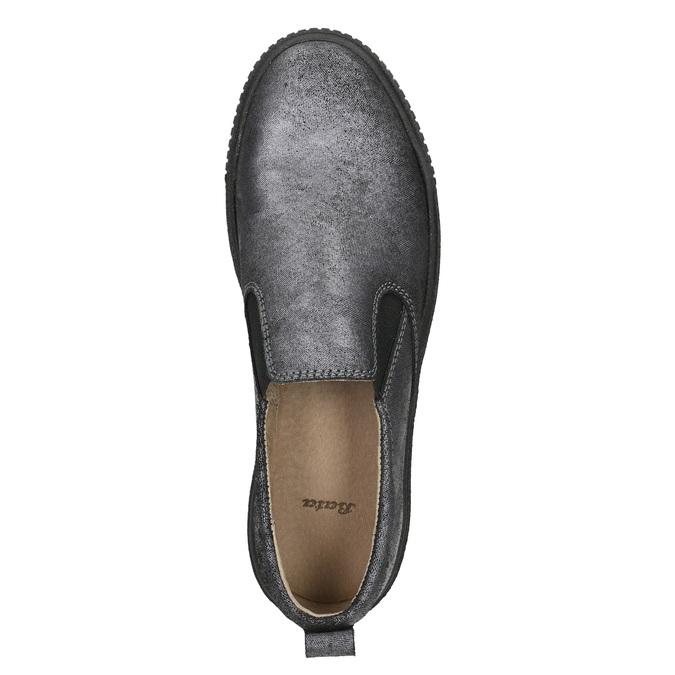 Dámské Slip-on na černé flatformě bata, šedá, 516-1613 - 26