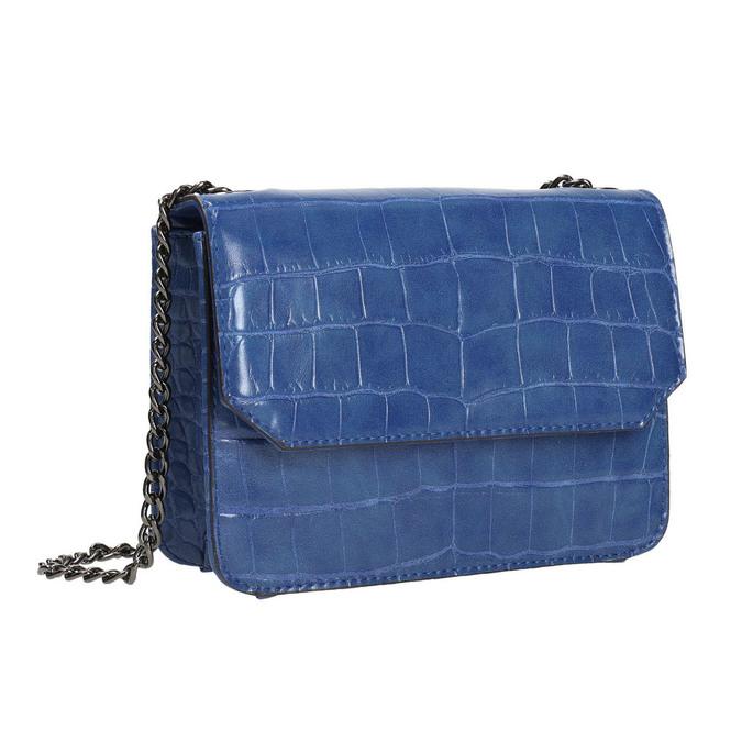 Modrá kabelka se strukturou bata, modrá, 961-9753 - 13