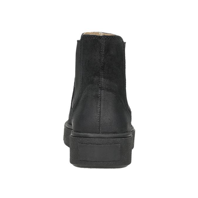 Dámská kožená kotníčková obuv bata, černá, 596-6671 - 16
