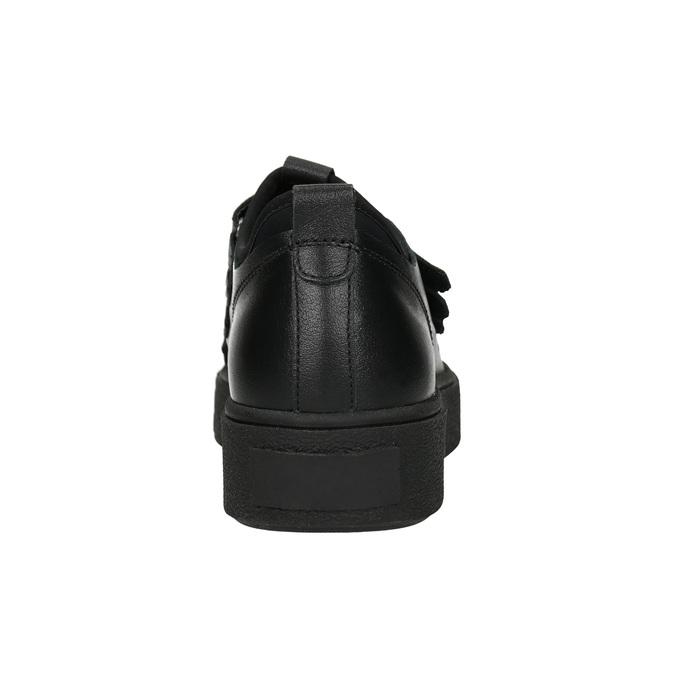 Černé kožené tenisky na suché zipy bata, černá, 526-6646 - 16