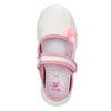 Dětská domácí obuv s mašličkou mini-b, bílá, 379-1214 - 19