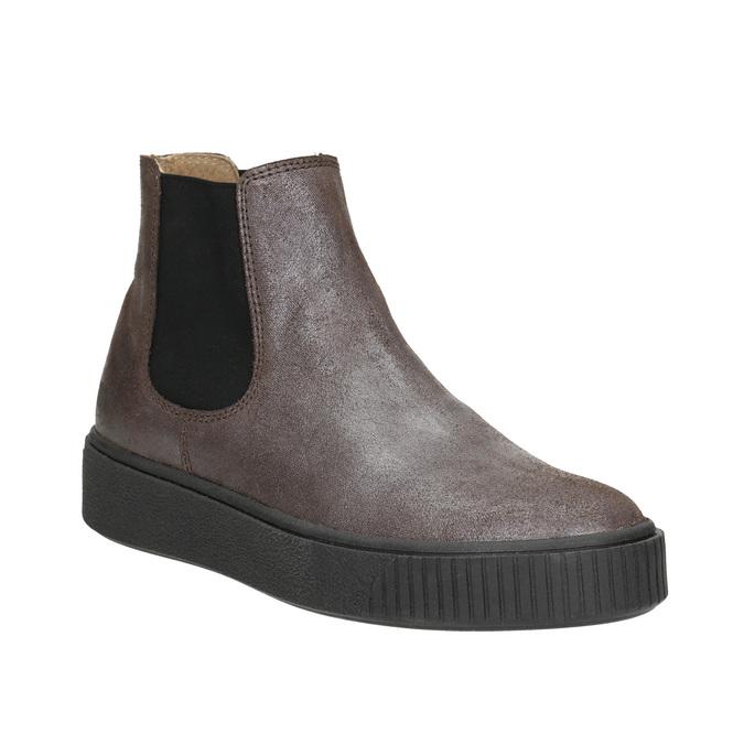 Kožená dámská Chelsea obuv bata, hnědá, 596-1671 - 13