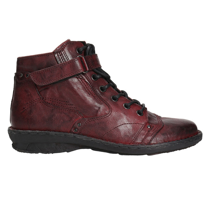 Dámská kožená kotníčková obuv bata, červená, 596-5656 - 15