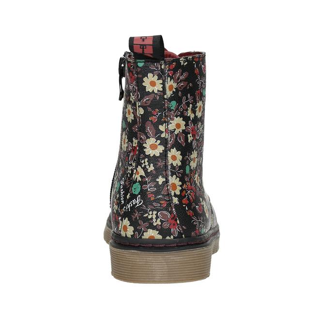 Dívčí obuv s květovaným vzorem bata-girl, černá, 321-6609 - 17