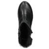 Kožená kotníčková obuv bata, černá, 594-6641 - 26