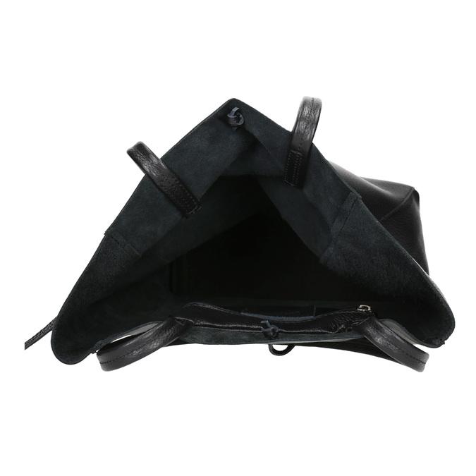 Kožená kabelka v Shopper stylu bata, černá, 964-6122 - 15