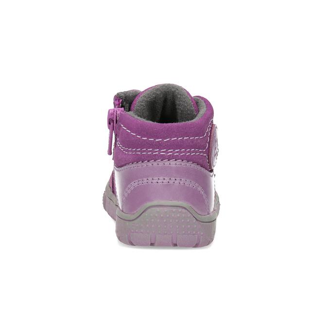 Kožené dívčí tenisky bubblegummers, růžová, 123-5601 - 15