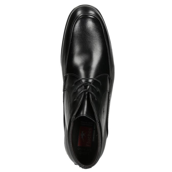 Kožená kotníčková obuv fluchos, černá, 824-6069 - 26
