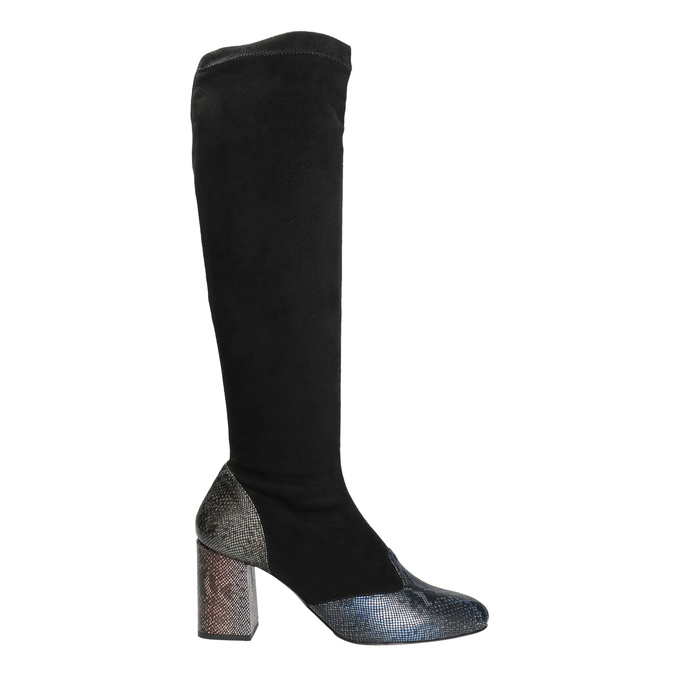 Dámské kozačky na stabilním podpatku classico-and-bellezza, černá, 796-6010 - 26