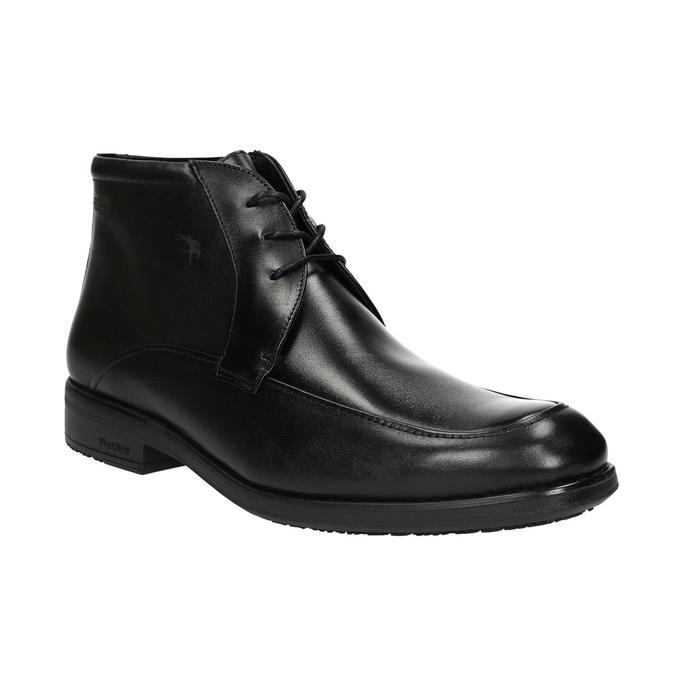 Kožená kotníčková obuv fluchos, černá, 824-6069 - 13