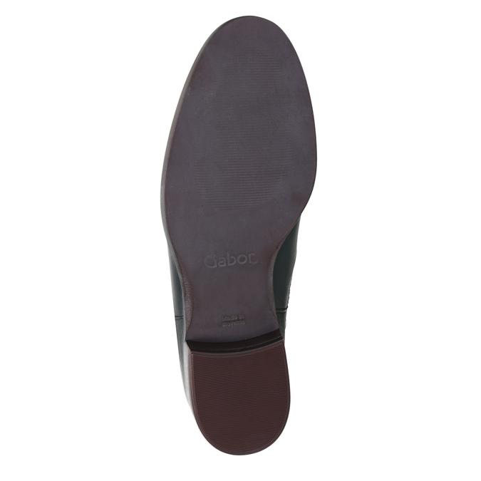 Kožené kotníčkové Chelsea Boots gabor, modrá, 516-4036 - 17