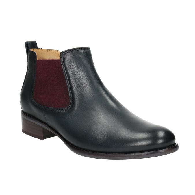 Kožené kotníčkové Chelsea Boots gabor, modrá, 516-4036 - 13