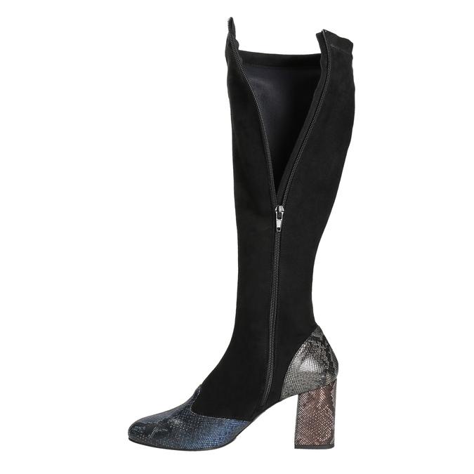Dámské kozačky na stabilním podpatku classico-and-bellezza, černá, 796-6010 - 15