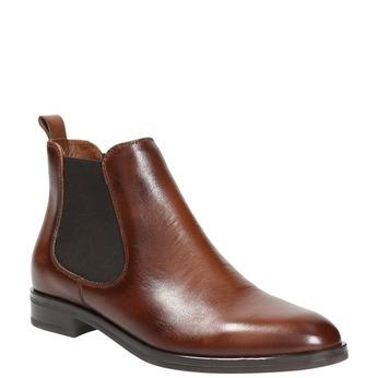 Kožená dámská Chelsea obuv bata, hnědá, 594-4635 - 13