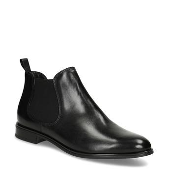Černá kožená obuv v Chelsea stylu bata, černá, 594-6635 - 13