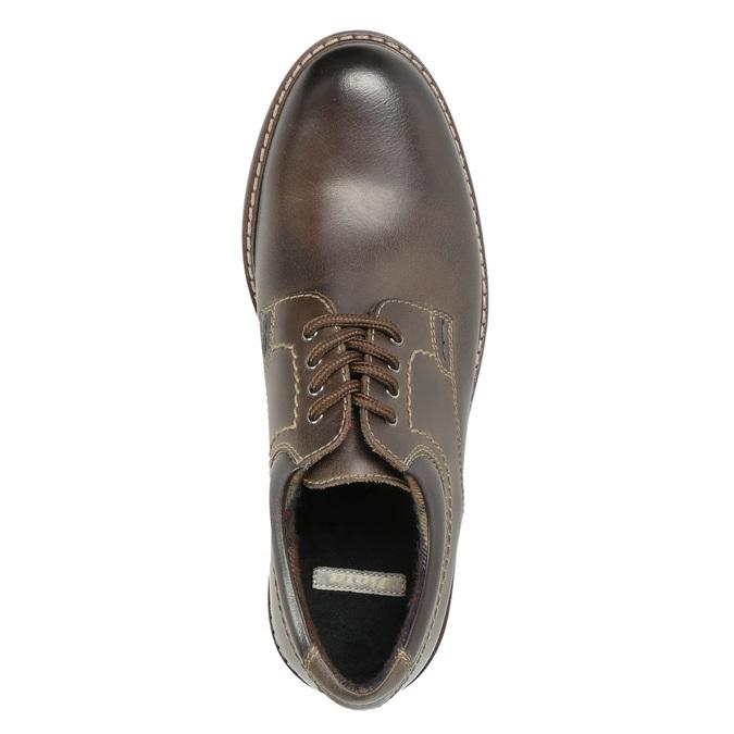Pánské kožené polobotky bata, hnědá, 826-4619 - 19