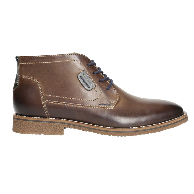 Kožená pánská kotníčková obuv bata, hnědá, 826-4614 - 15