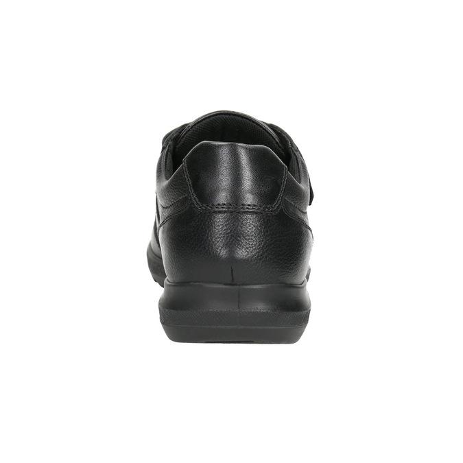 Neformální kožené polobotky comfit, černá, 824-6919 - 17