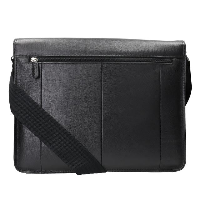 Kožená taška s klopou picard, černá, 964-6098 - 16