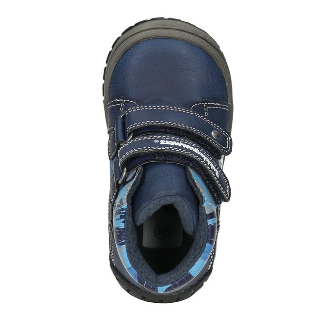 Kotníčková chlapecká obuv bubblegummers, modrá, 111-9618 - 19