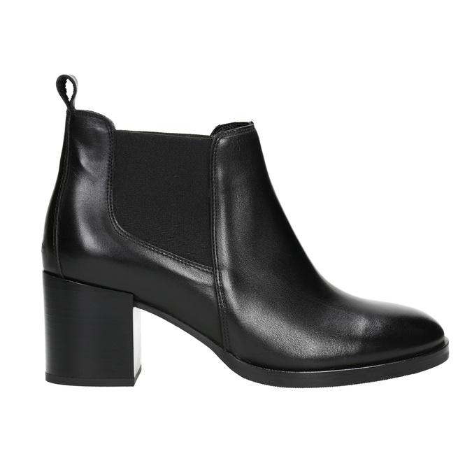 Dámská kožená kotníčková obuv bata, černá, 694-6641 - 15
